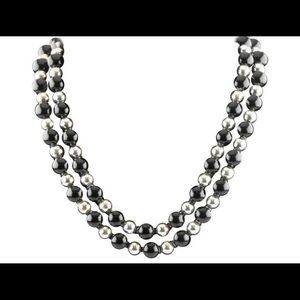 Tiffany & Co. black onyx and sterling silver beads